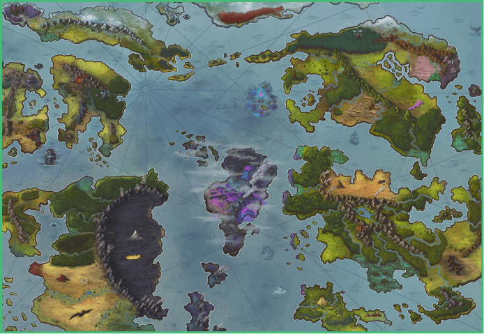 Map of the Wy'rded World