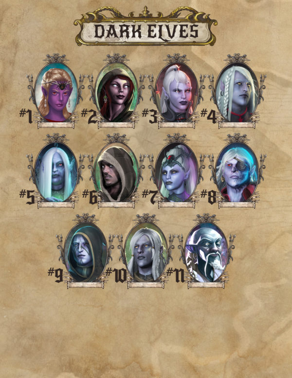 Dark Elf portraits