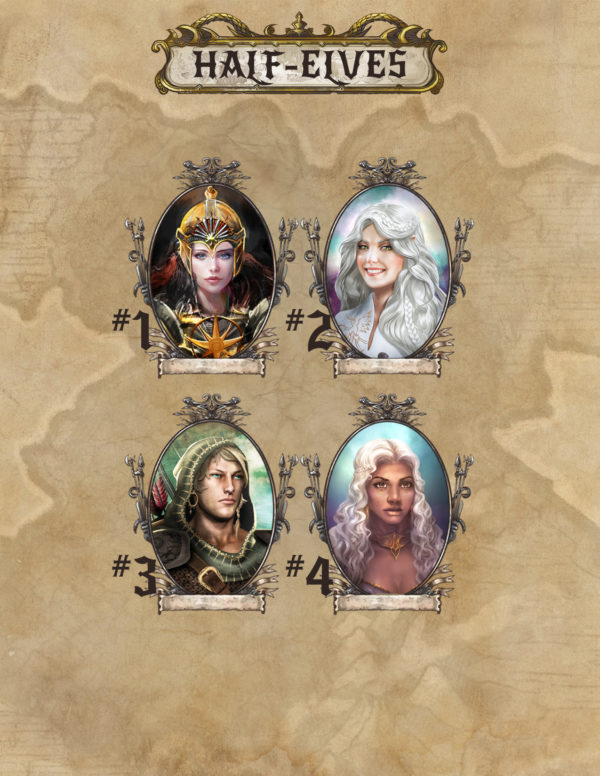 Half-Elf portraits