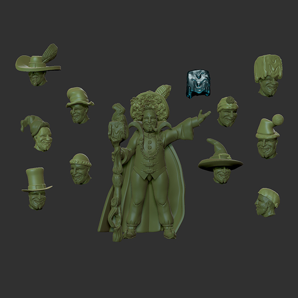 Alphinius with hats for store